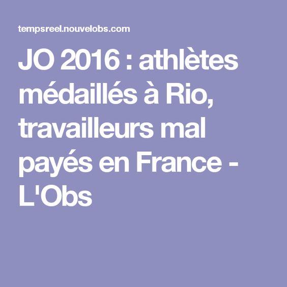 JO 2016 : athlètes médaillés à Rio, travailleurs mal payés en France - L'Obs