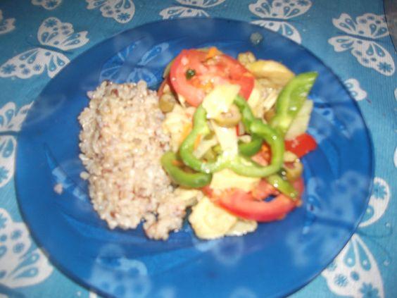 Bambulhoada + arroz integral = tudo de bom!