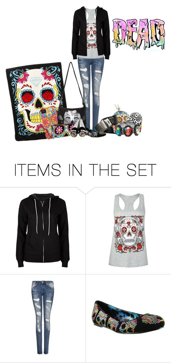 """Sugar Skulls"" by rndmskttlz ❤ liked on Polyvore featuring art"