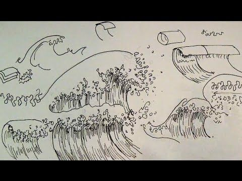 Pen & Ink Drawing Tutorials | How to draw ocean waves of a seascape ~ This tutorial provides pen and ink drawing tips on how to shade and draw water and ocean waves. Even waves can be visualized in terms of basic shapes and forms just like anything else!
