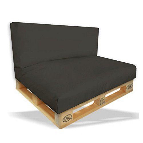 Palettenkissen 2er Set Sitzpolster 120x80x15cm Ruckenkissen