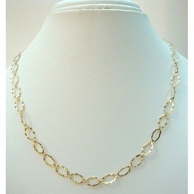 Collana girocollo a catena in oro giallo 18 kt carati in Orologi e gioielli, Gioielli di lusso, Collane e pendagli | eBay