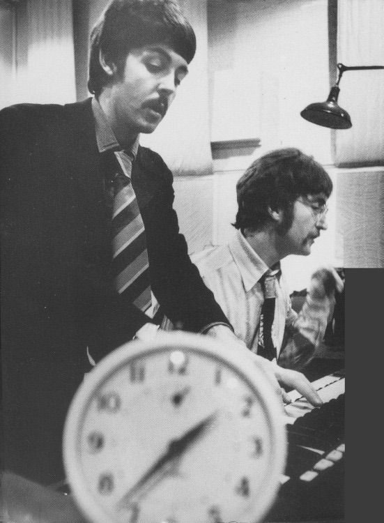 J P Recording A Day In The Life On 19th January 1967 In Studio Two At Emi Studios Abbey Road London The Beatles Beatles Rare Beatles One