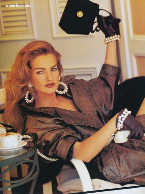 A Perfect Mix - Vogue US 1991  Model: Karen Mulder