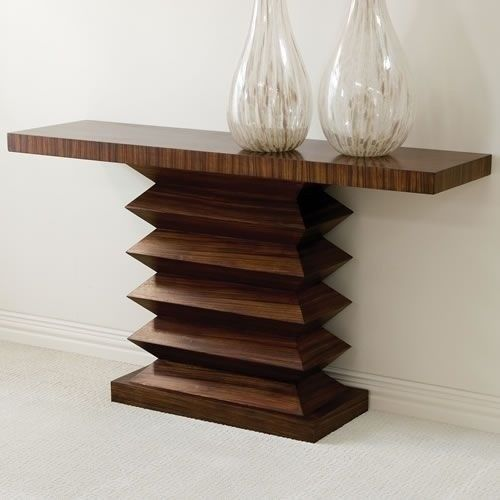 Global Views Zig Zag Console Table contemporary side tables and accent tables