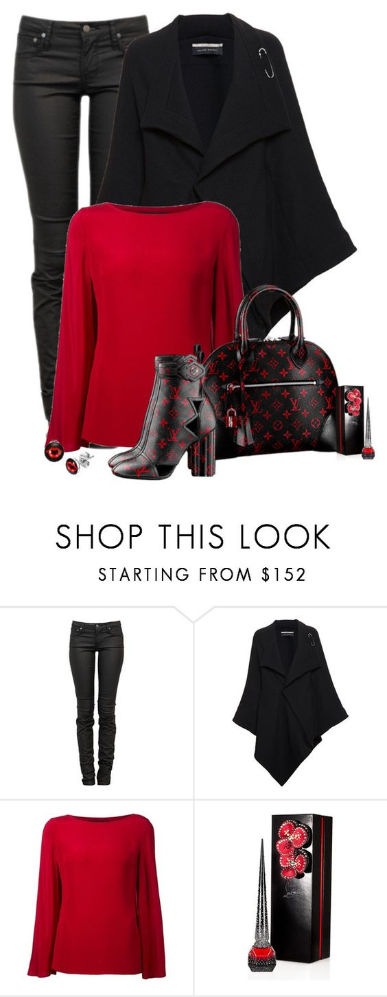 """""""19.12.2015"""" by marie-iiii ❤ liked on Polyvore featuring Helmut Lang, Roland Mouret, Ralph Lauren Black Label, Louis Vuitton and Christian Louboutin"""