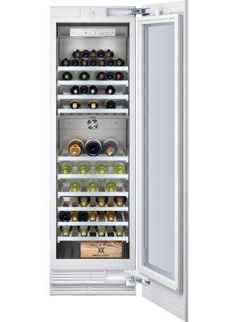 Gaggenau RW 414 361 Module cave à vin, 2 zones de tempéarture. Réglage taux d'humidité. Clayettes hêtre et alu. Capacité 70 bt L 45,7 x P 60 x H 213,7 5320€