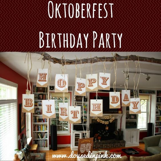 Looking for a unique fall party idea? Oktoberfest Birthday Party and craft beer tasting! www.dousedinpink.com