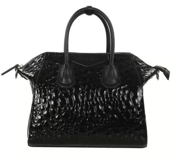 4you2wear Zwarte Leren tas Givenchy look a like Sara