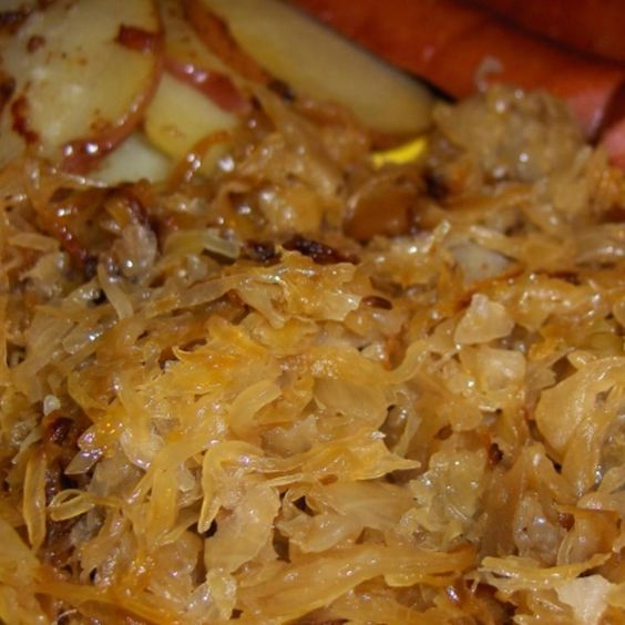 This is authentic! I lived in Germany for 3+ years, and this is the way my German neighbor taught me to make delicious sauerkraut. Takes a bit more time than just opening up a briny can of kraut and heating thru on the stove ... but it is SO worth it. Add some nicely browned Bratwurst, some applesauce (Apfelmousse), some fries (Pommes Frites), some brown bread (Graubrot or Schwarzbrot)...  and you have a great meal, as prepared in the style of the Hessen region of Germany!