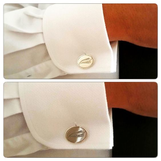 Colleras de Plata, diseño #allblacks #rugby #hechura #hechoamano / Silver Cufflinks, #allblacks #rugby #hechura #handmade: