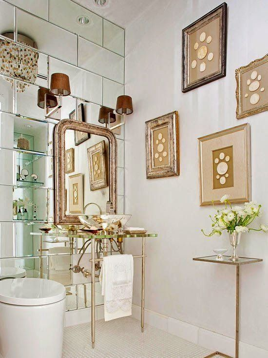 Redecorate antique mirror on walls for the home for Redecorating bathroom ideas