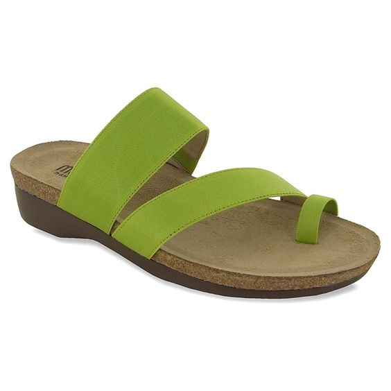 Munro American Womens Aries Green Fabric Sandal 7.5 M (B) *** For more information, visit now : Strappy sandals