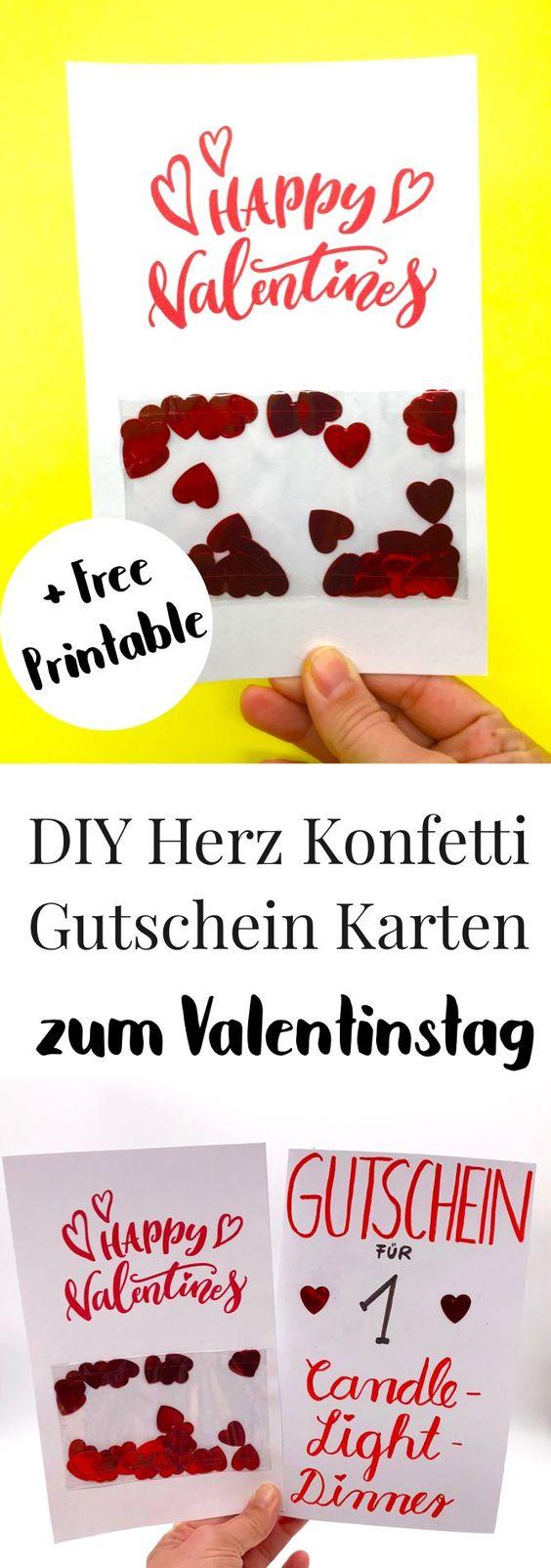 Karten Selbst Gestalten Valentinstag Karte Selber Machen Mit Bildern Valentinstag Geschenk Fur Ihn Geschenke Valentinstag