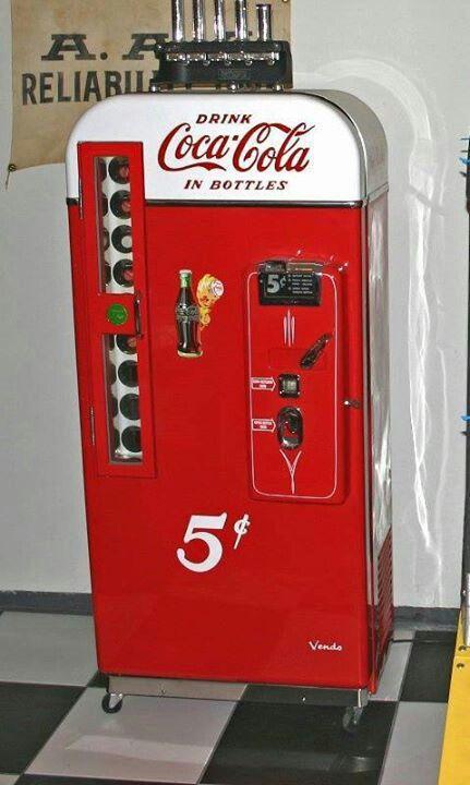 american retro classic coke machine