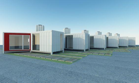 casa contenedores / container homes  origami vivienda social ecológica DISEÑO ECOVERT