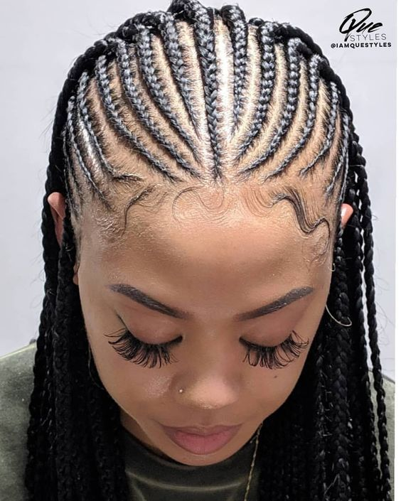 Iamquestyles My Latest Creation On Melanadene Protectivestyles Naturalhair Braided Hairstyles Braids For Black Hair African Hair Braiding Styles