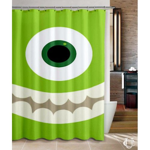 Monster Inc Disney Movie Trailer Shower Curtain Cheap Shower