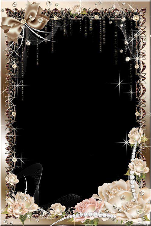 Flower Photo Frame Psd With Roses Photoframe Flower Frame Foto Frame Flower Background Wallpaper