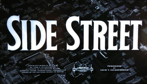 Side Street 1950 Anthony Mann