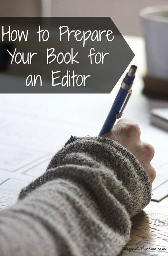 Editor of a book