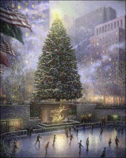 thomas kinkade Thomas Kinkade Pinterest Christmas trees