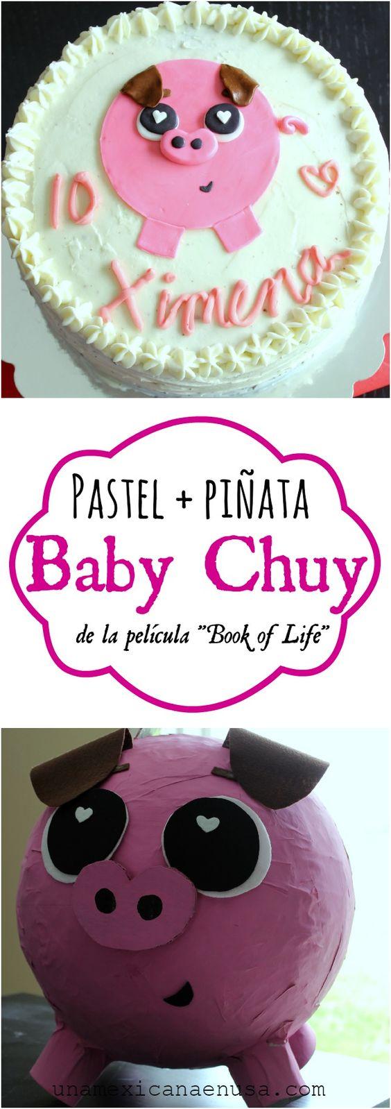 Baby Chuy piñata + pastel: inspirada en la película Book of life