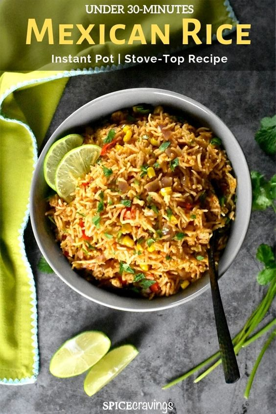 Mexican Rice - Instant Pot|Stove (Tex-Mex Style)