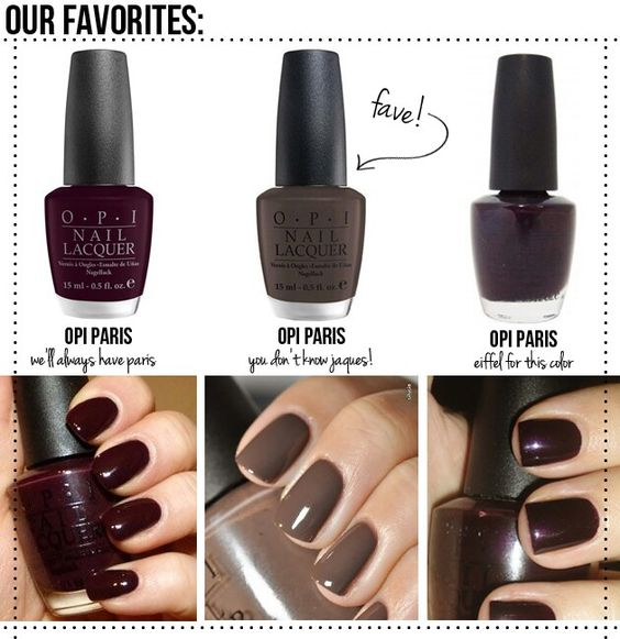 Autumn Nail Colors - For Fingers And Toes!