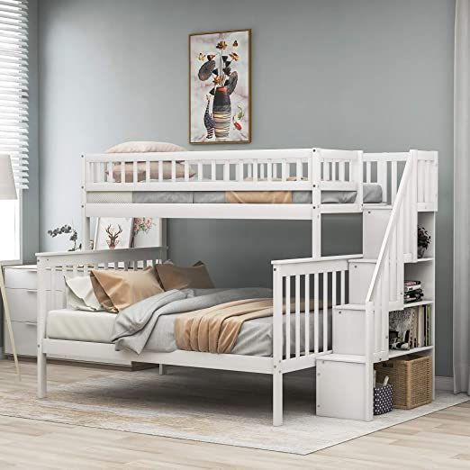 Bunk Bed Twin Over Full With Stairs Julyfox Pine Wood Bunk Bed Frame With Side Bunk Bed With Stairs And Storage Bunk Beds With Storage Twin Over Full Bunk Bed Twin over full bunk beds with stairs