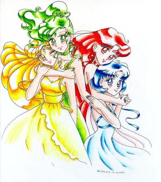 The four Inner Senshi princesses