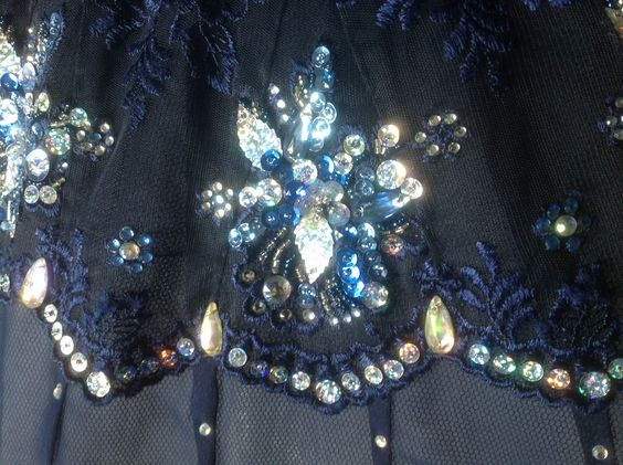 Blue tutu detail