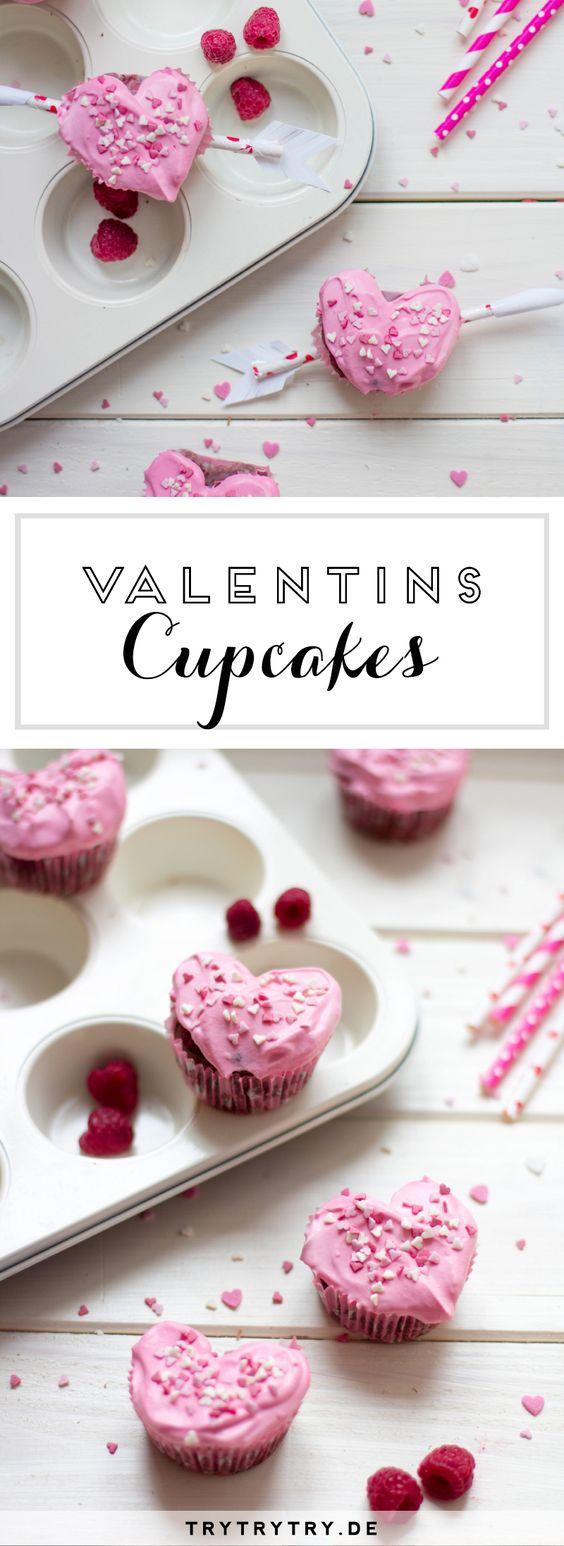 Herz-Cupcakes zum Valentinstag, Muttertag, Geburtstag, Jahrestag...