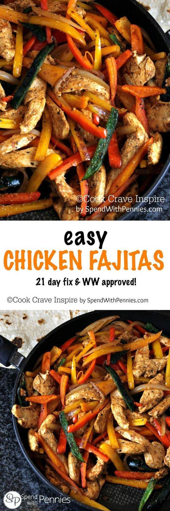 Easy chicken fajitas, Chicken fajitas and Chicken on Pinterest