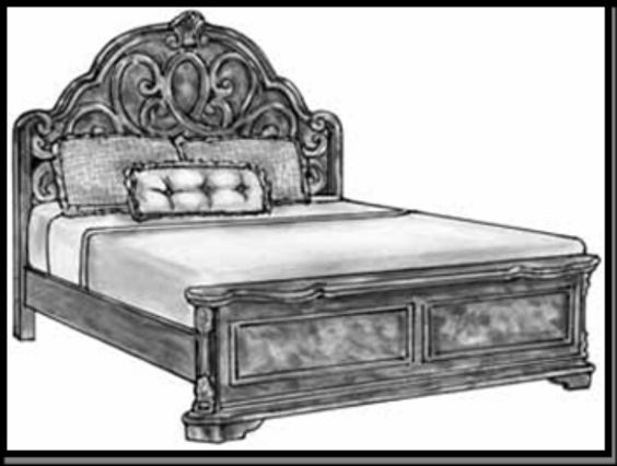 bed with acanthus cravings and graceful curves weir 39 s furniture