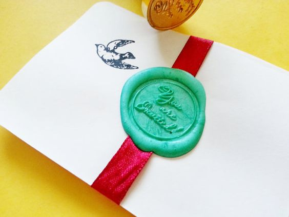 Exclusive You're Invited Gold Tone Plated Wax Seal by naissance, $18.50