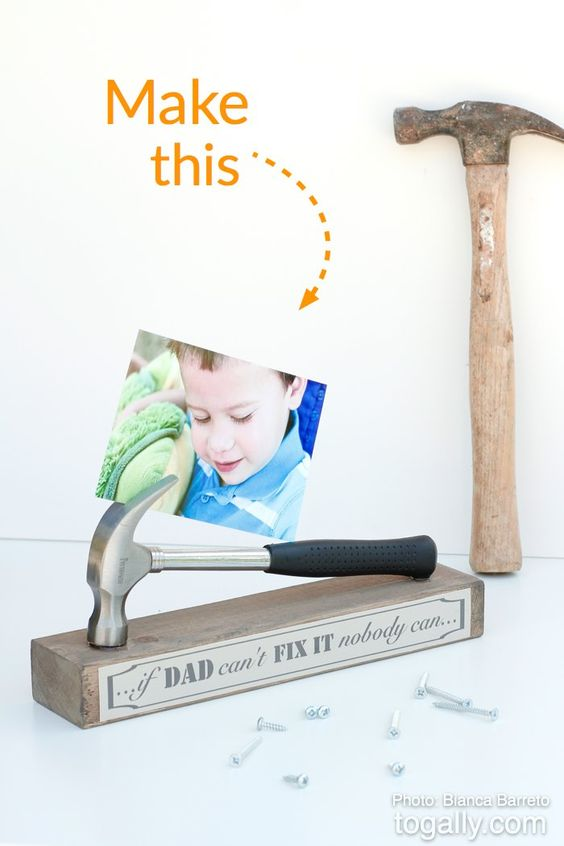Photo Displays Homemade Fathers Day Gifts And Toolbox On