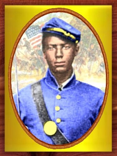Corporal Andrew Jackson Smith, of Clinton, Illinois, a member of the 55th Massachusetts Voluntary Infantry, distinguished himself on 30 November 1864 by saving his regimental colors, after the color bearer was killed during a bloody charge called the Battle of Honey Hill, South Carolina. In the late afternoon, as the 55th Regiment pursued enemy skirmishers and conducted a running fight, they ran into a swampy area backed by a rise where the Confederate Army awaited.