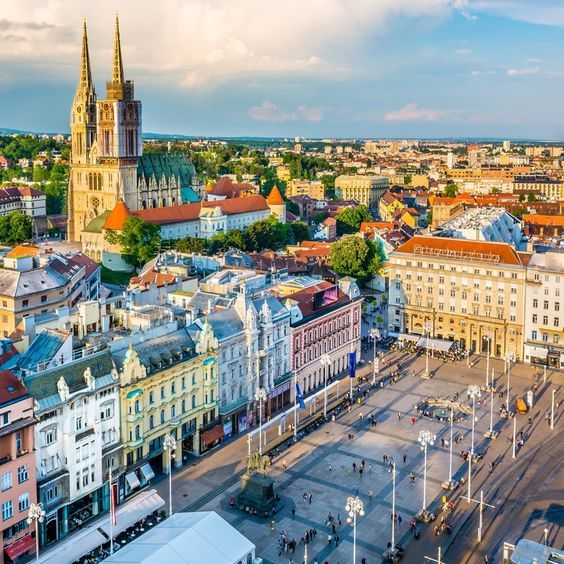 The Vibrant Zagreb City In Croatia Paisajes Europa Croata