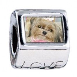 Shih Tzu Dog Love European Charms  Fit pandora,trollbeads,chamilia,biagi and any customized bracelet/necklaces. #Jewelry #Fashion #Silver# handcraft #DIY #Accessory