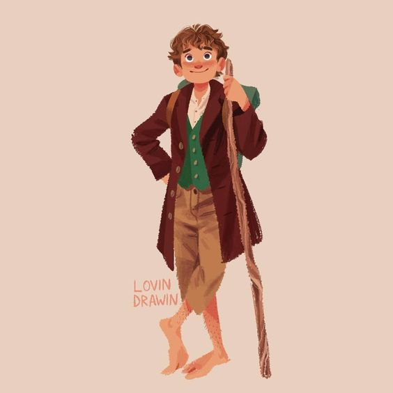 Bilbo Baggins swipe to see the full picture Im wondering if I should draw some more characters, comment what you think! . . . #bilbobaggins…