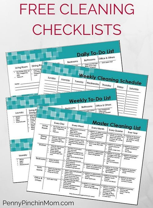 Get FREE Daily, Monthly and even Yearly Cleaning Checklists - daily checklist sample