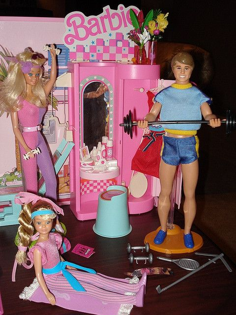 My First Barbie, All Star Ken , And Great Shape Skipper all working it out at the All Star Gym Super! See This! http://all4betterlife.com