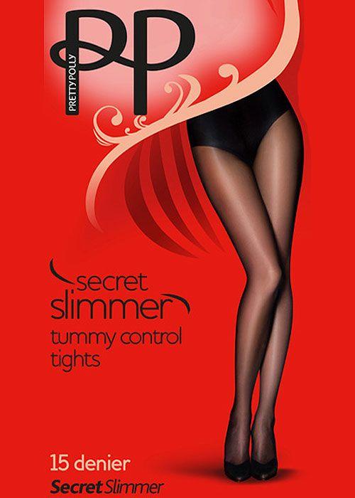 Pretty Polly Secret Slimmer 15 Denier High Leg Toner Tights - In Stock At UK Tights