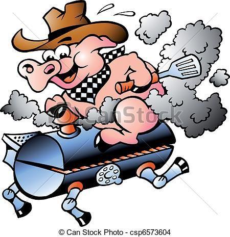 Clip Art Pig Roast Clip Art hog roast cartoon clipart illustration of a roasted pink pig vector riding on bbq barrel stock royalty free illustrations