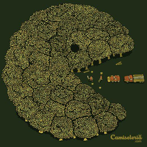 Camiseta 'Pacforest' - Catalogo Camiseteria.com
