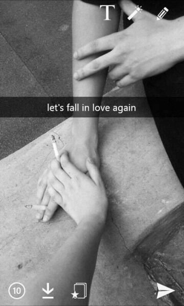 lets fall in love again.