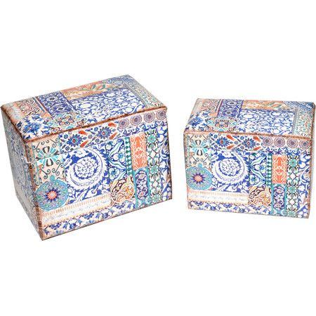Create additional seating in your living room or conservatory with this mosaic-inspired ottoman set, channelling exotic design influences. With their flip-to...