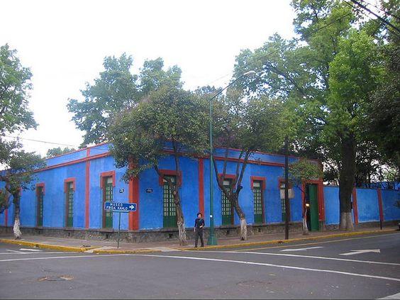 Frida Kahlo's home, Coyoacan, Mexico City.