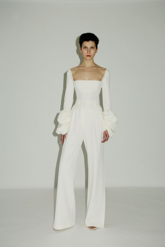 wedding dresses,  covid-wedding, micro wedding, elopement, bridal pants